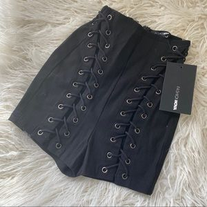 Fashion Nova (NWT) Call From Richie Lace-Up Shorts
